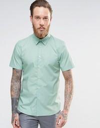 Рубашка зауженного кроя PS Paul Smith - Бирюзовый
