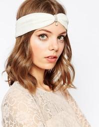 Плиссированная повязка на голову с искусственным жемчугом ASOS