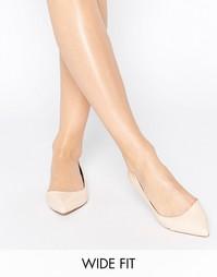 Балетки для широкой стопы с острым носком ASOS LEAPFROG - Телесный
