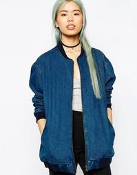 Джинсовая куртка‑пилот в стиле oversize ASOS - Выбеленный голубой