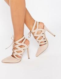 Туфли-лодочки на шнуровке Missguided - Blush
