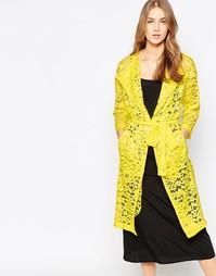 Кружевное легкое пальто Closet - Желтый