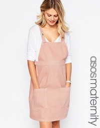 Джинсовый розовый сарафан для беременных ASOS Maternity - Розовый