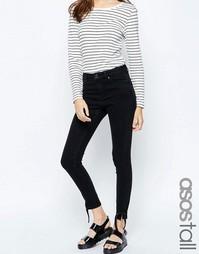 Зауженные джинсы с завязками на кромках ASOS TALL Ridley