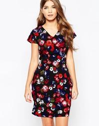 Цельнокройное платье с цветочным принтом Poppy Lux Tarsha