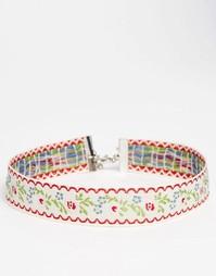 Ожерелье-чокер с лентой ASOS Wallflower - Мульти