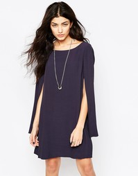 Платье с рукавами‑кейп Free People Kristal - Минерал