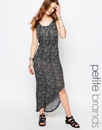 Асимметричное платье макси Noisy May Petite - Серый меланж