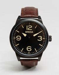 Часы с коричневым кожаным ремешком Breda Stephen - Коричневый