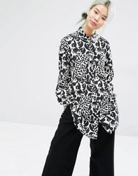Рубашка с монохромным принтом Monki - Узор