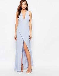 Платье макси с разрезом сбоку Keepsake - Бледно-синий