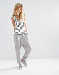Трикотажные гаремные брюки ASOS - Серый