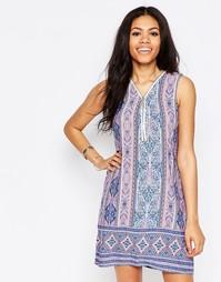 Платье на молнии спереди с платочным принтом Daisy Street - Мульти
