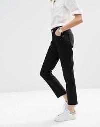 Черные джинсы бойфренда с необработанной кромкой ASOS Kimmi - Черный