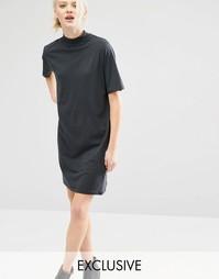 Платье-футболка с высокой горловиной Cheap Monday - Поношенный черный
