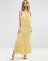 Желтое платье макси Suncoo - Желтый