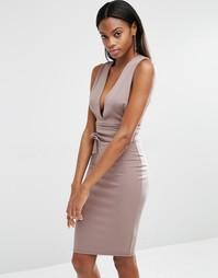 Платье миди с поясом Missguided - Серый