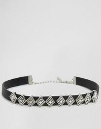 Ожерелье-чокер в стиле вестерн DesignB London - Черный