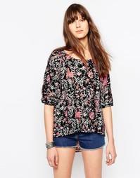 Блузка с цветочным принтом и рукавами 3/4 Only Clematis Sima