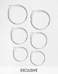 Эксклюзивный набор серег‑колец DesignB London - Серебряный