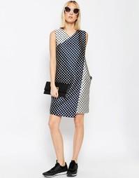Жаккардовое платье мини ASOS WHITE - Мульти