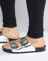 Серебристые сандалии с пряжками ASOS - Серебряный