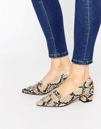 Туфли на каблуке с острым носом ASOS SIGNAL - Snake