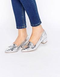 Туфли на каблуке с острым носом ASOS SIGNAL - Серебряный