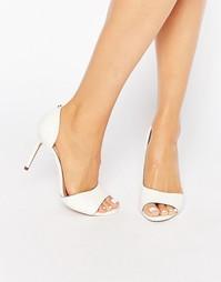 Белые кожаные туфли-лодочки с вырезами Ted Baker Caawmi