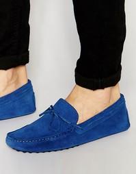 Синие замшевые мокасины ASOS - Синий