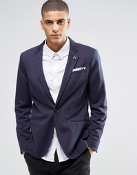 Блейзер в горошек Selected Homme - Navy blazer