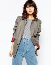 Вощеная куртка ASOS - Светло-серый