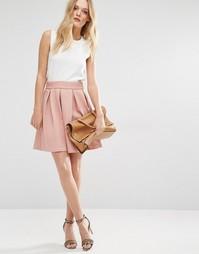 Структурированная короткая расклешенная юбка Y.A.S - Розовый рассвет