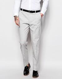 Серые брюки слим в крапинку ASOS - Серый