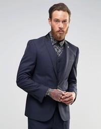 Зауженный пиджак ASOS - Темно-синий
