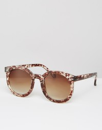Солнцезащитные очки в черепаховой оправе Missguided - Коричневый