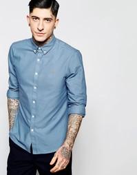 Синяя оксфордская рубашка слим Farah - Морской котик