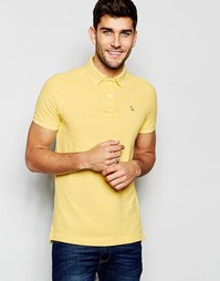 Желтая футболка-поло кроя слим Abercrombie & Fitch - Желтый