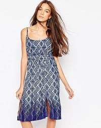 Платье с геометрическим принтом Diya - Синий