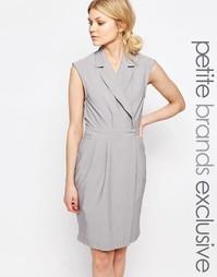 Платье без рукавов с лацканами Alter Petite - Светло-серый