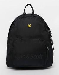 Рюкзак с диагональной вставкой Lyle & Scott - Черный