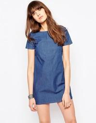 Джинсовое цельнокройное платье Only - Голубой шамбре