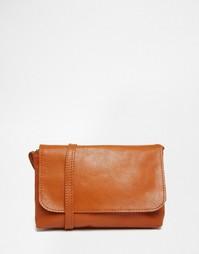 Мягкая кожаная сумка через плечо ASOS - Рыжий
