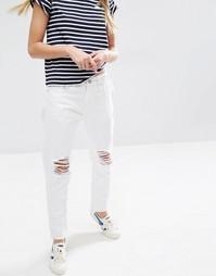 Рваные джинсы в винтажном стиле Daisy Street - Белый