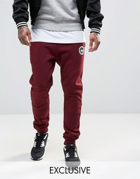 Зауженные спортивные брюки с логотипом Hype - Burgundy