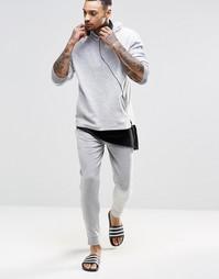 Серые меланжевые штаны для дома ASOS - Серый