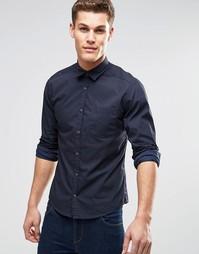 Рубашка зауженного кроя с длинными рукавами Esprit - Темно-синий