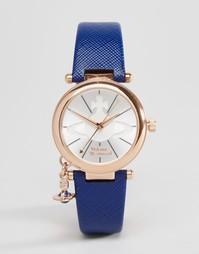 Часы с синим кожаным ремешком Vivienne Westwood VV006RSBL - Синий
