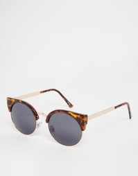 Черепаховые круглые солнцезащитные очки в стиле ретро Monki