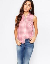 Клетчатая рубашка без рукавов в стиле вестерн Pepe Jeans - 975